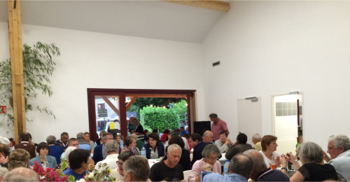 The new Salle de Fetes was full as was the covered outdoor terrace